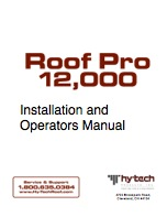 Hy-Tech Roof Pro 12000 Operating Manual