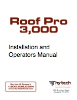 Hy-Tech Roof Pro 13000 Operating Manual