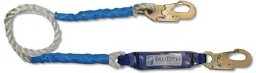 6' Shock Absorbing Lanyard with 2 Snap Hooks