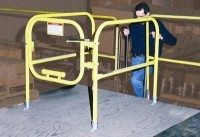Railguard 200 System—Adjustable Width Spring-Loaded Self-Closing Gate